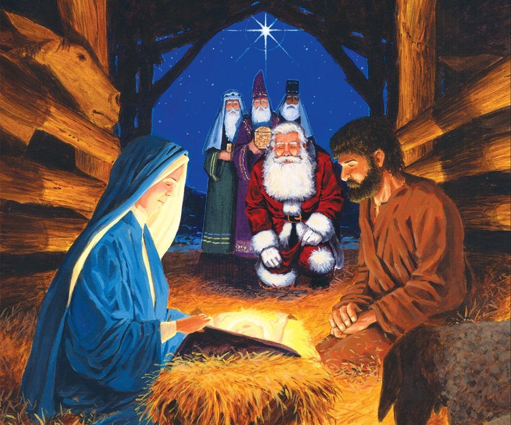 jesus santa - Santa And Jesus